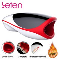 Leten Blowjob Heating Male Masturbator For Man 10 Modes Vibr...