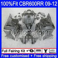 Inyección para HONDA CBR 600RR 600F5 CBR600RR 09 10 11 12 282HM.15 CBR 600 RR F5 Stock negro nuevo CBR600 RR 2009 2010 2011 2012 Fairings