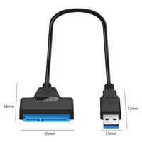 من قبل شركة دي إتش إل محول SATA III USB 3.0 كابل محرك الأقراص الصلبة الخارجية USB لATA التسلسلي 22pin القرص الصلب المحول 2.5