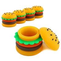 10pcs / lot Hamburger Jar Silicone Cire Conteneur de cire Conteneur Trappe 5ml Conteneurs fumeurs