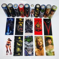 58 designs for 18650 20700 21700 battery Wraps PVC Sticker S...