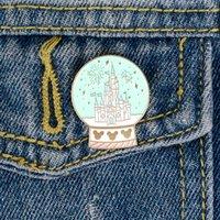 Crystal Ball Эмаль Броши Булавки для одежды Сумка Панк ювелирных подарков для друзей Дети девчушки сердца