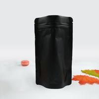 100 pz / lotto 9 formati auto bianco e nero forested auto chiusura a zip sacchetto di immagazzinaggio alimentare sacchetto di caffè tè foglio di alluminio imballaggio sacchetto in piedi