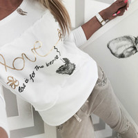المرأة t-shirt أزياء المرأة 2021 الربيع القمصان رسائل الحب المطبوعة خليط س الرقبة تي شيرت طويلة الأكمام عارضة قمم بيضاء زائد الحجم g