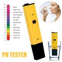 ATC Dijital LCD ile test Kalem Ph Kalem ABS Sarı Taşınabilir Ph Tester Pratik Yüzme Havuzu