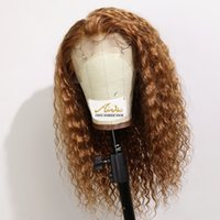 Brown Color Full Lace Human Hair Wigs with Baby Hair Lace Fr...