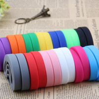 100pcs/lot colorful Blank Silicone Wristbands Rubber Bracelet sport & events