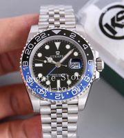 Hommes Wey Black Ks Factory Watch Hommes Automatique Eta 2836 Pepsi 126710 Montres Acier Bracelet Jubilee 126719 Montre-bracelet Dive