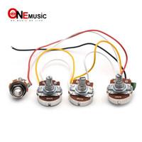 Juego de cableado para el arnés de cableado de JB 250K Pots 2 Volume 1 Tone For Jazz Bass Piezas de guitarra eléctrica