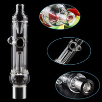 Portable Glass water Pipe Kit Dab Straw with Hole Glass hand...