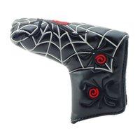 Thumb Golf Putter Cover PU Leather Spider Web Club Blade Portatile Blade Protettivo Protezione per esterni Accessori Magic Sticker Decor