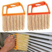 Utile pulitore in microfibra Window Cleaning Brushes Condizionatore Duster con lavabile Veneziana Brush Cleaner 200pcs CCA12405
