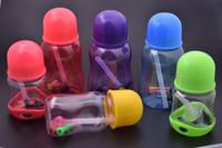 DIY bunte 3 stil 10mm Inline Perc kunststoff wasser rauchen öl rig Bong rohr mit 10mm männlich glas ölschüssel