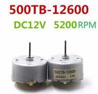 8шт двигатель постоянного тока РЧ-500 ТБ-3 12600-12 В постоянного тока 2800-5600RPM с длинным валом используется для сигнализации