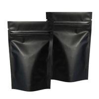 Borse del pacchetto nero opaco con chiusura a zip borse in alluminio sacchetto di stoccaggio al piano calore sacchetto stand up borsa all'ingrosso