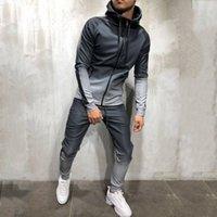 Zipper Survêtement Hommes Set Sporting 2 Pièces Survêtement Hommes Vêtements Imprimé à capuche Sweats à capuche Pantalons Veste Survêtements Homme Dec28