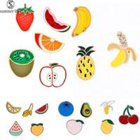 2020 حار بيع الفاكهة المينا دبوس الزينة الفاكهة قطرة نفط الأناناس بروش للرجال أزياء المرأة الكورية الأطفال مجوهرات هدية-Z