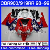 Lichaam voor HONDA CBR 900RR CBR 919RR CBR900 RR CBR919RR 98 99 278HM.12 CBR900RR CBR 919 RR ROOD BLUE GLOSSY CBR919 RR 1998 1999 VIERKINGSKIT