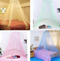top Round Mosquito net Hung Dome Bed Dome Tents Baby Adults Ceiling Hanging For Home Decor Hanging Bed Valance height 2.4m KKA7825
