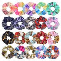 Красочные Ins круга волос Резинки для девочек Женщины хвостик хвостик Traceless Hairbands Мода Shivering Кольца Аксессуары для волос D51105