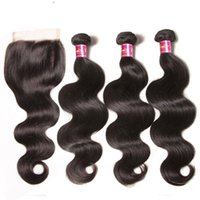 Shows Shine Body Wave Bundles With Closure 100% Human Hair B...