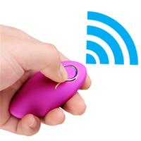 Huevo de amor con vibración inalámbrica, control remoto, impermeable, 10 velocidades, producto USB recargable del sexo