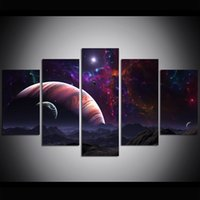 5 Piece Large Size Canvas Wall Art Sistema Solar Oil Paintin...