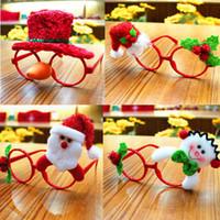 Presentes 1PC cute decorações de Natal Papai Noel espetáculos vidros do partido Crianças Brinquedos