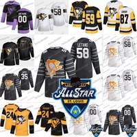 2020 All Star Pittsburgh Penguins Patrick Marleau Tristan Jarry Kris Letang Sidney Crosby Jason Zucker Guentzel Malkin Phil Kessel Jersey