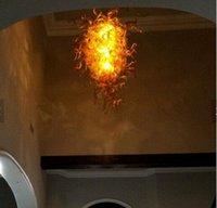 Stile di Murano soffiato Lampadario in vetro catena in Indoor Pendant Lights Dubai Fiore di Murano di vetro libera lampadario moderno di Murano LED