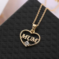 أمي الحب القلب قلادة المحبة هدية عيد الأم مجوهرات الأم بين الأم وابنتها قلادة جميلة البلوز سلسلة القلائد