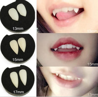 Hallowmas Witz Zähne falsche Zähne lustige Vampir Teufel Zähne gefälschte Zähne Zahnersatz Halloween Cosplay Custome Prop Kostümfest Dekoration
