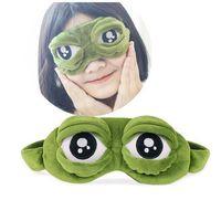 Bonito sapo rã triste Eye 3D Tampa Máscara de dormir engraçado Resto do sono Anime Cosplay Costumes GC5 Acessórios presente
