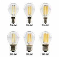 LED الشعيرة مصباح 110V G45 ريترو زجاج إديسون E27 E12 E14 E17 B22 2W 4W 6W الصمام لمبة استبدال الثريات ساطع الضوء