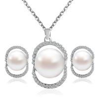 Wedding Bridal Jewelry set di gioielli squisiti gioielli Set Match da sposa all'ingrosso Set Piece Collana di perle Due