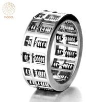 V-COOL Moda Abacus Anel Para Mulheres Dos Homens de Alta Qualidade Matemática Número Jóias Dom Aço Inoxidável Charme Presente VR262 D19011502