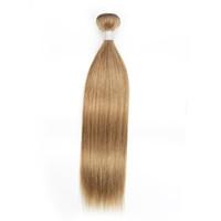 # 8 Ash loira de cabelo em linha reta pacotes Brasileiro Peruano Malaio Indiano Virgem Cabelo 1 ou 2 Bundles 16-24 polegadas Remy extensões de cabelo humano