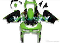 川崎忍者ZX9R 98 99 ZX-9R ZX 9R 1999 1999緑色の黒フェアリングキットKM20