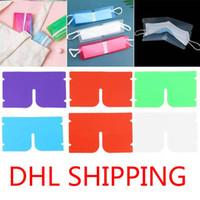 DHL Gemi Taşınabilir yüz maskesi depolama Klip Plastik Mini Katlanabilir Tutucu Konteyner Şeker Renkli Depolama Vaka toz geçirmez FY8020