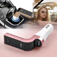 الساخنة مبيعا CAR G7 G7 بلوتوث عدة السيارة يدوي FM مرسل راديو MP3 لاعب USB شاحن AUX TF بطاقات فتحات