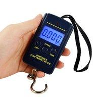 200pcs 40kg 10g Portatile Mini Bilancia elettronica Scale elettroniche Appeso Pesca Bagagli Gancio Gancio Pocket Peso digitale Liberi