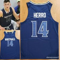 Neue Tyler Herro Whitnall # 14 High School Basketball Jersey Retro Basketball Jersey Herren Genähte benutzerdefinierte Nummernname Trikots