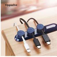 Oppselve Magnetic Cable Organizer USB Cable Management Winder Clip Desk Workstation Cavo di protezione Protector Cable Holder per il telefono