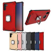 Nova moda 2 em 1 TPU + pc caixa de metal armadura à prova de choque com pára-choques proteger para iphone 11 pro máximo para Samsung nota 10 para pro p30 Huawei