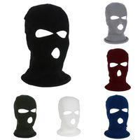 Hiver chaud Ski Vélo 3 trous Balaclava capot Cap masque facial Masque Hiver Femmes Hommes Visage Keep Warm XD23203
