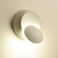 Kare Yuvarlak 5 W LED Duvar Lambası 360 Derece Ayarlanabilir Rotasyon Gece Lambası Siyah Beyaz Modern Yaratıcı Koridor