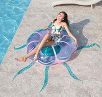 풍선 해파리 수영 반지 새로운 디자인 물 부동 플로트 튜브 크리 에이 티브 성인 부표 매트리스 비치 물 파티 장난감