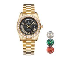 دور الهيب هوب ووتش للرجال Cagarny الأزياء النسائية ساعات الكوارتز الماس ساعة اليد للماء الذهبي ذكر للrelogio