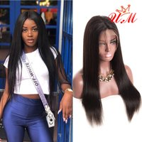 Brazilian virgin human hair lace front wigs Brazilian straig...