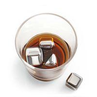 4PCS Neueste Whisky Edelstahl Steine Whisky Eiskühlvorrichtung Eiswürfel für Wein Whiskey Bier Bar Haushalt Hochzeit Geschenk Bevorzugte 2019